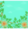 Floral Pattern Flowers and Leaves vector image vector image