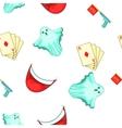 Fun and jokes pattern cartoon style vector image