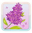game icon with lilac flower vector image vector image