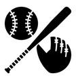 glyph beautiful baseball equipment icon vector image vector image