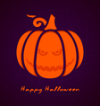Halloween greeting card eps10 vector image vector image