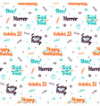 halloween lettering seamless pattern vector image vector image