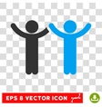 Hands Up Children Eps Icon vector image vector image
