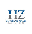 hz letter type logo design template abstract vector image vector image