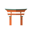 japanese wooden torii gate national symbol vector image