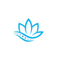 lotus chiropractic logo spine spinal care icon vector image vector image