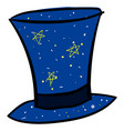 magic blue hat on white background vector image