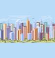 modern city panorama skyscraper buildings homes vector image vector image