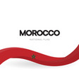 morocco flag wavy ribbon with colors moroccan vector image vector image