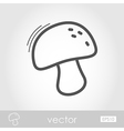 Mushroom outline icon Harvest Thanksgiving vector image vector image