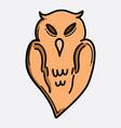 owl doodle color icon drawing sketch hand drawn vector image vector image