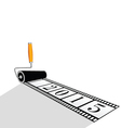 paint roller with film for 2015 year vector image