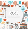 Paris Round Composition vector image vector image