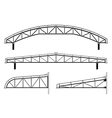 Roofing buildingsteel frameroof truss collection vector image vector image