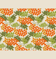 rowanberry seamless pattern vector image vector image