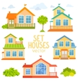 set houses vector image