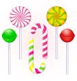 set-of-candies-lollipop vector image