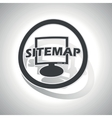Sitemap sign sticker curved vector image vector image