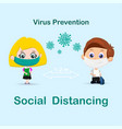 social distancing pupil background vector image