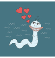 Spermatozoon in love and very happy vector image