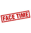 square grunge red face time stamp vector image vector image