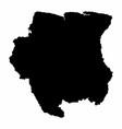 suriname dark silhouette map vector image vector image