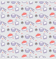sushi caviar and rice meal seamless pattern vector image