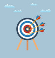 target with arrows standing on a tripod vector image vector image