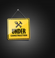 Under construction sign square hanging with chain vector | Price: 1 Credit (USD $1)