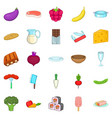 useful product icons set cartoon style vector image vector image