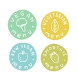 Vegan vegetarian raw smoothie menu badges vector image vector image