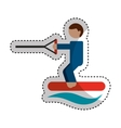 Water ski sport icon vector image