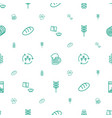 wheat icons pattern seamless white background vector image vector image