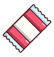 wrapped candy icon cartoon style vector image vector image