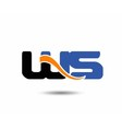 WS initial company group logo vector image vector image