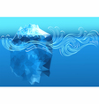 abstract iceberg vector image