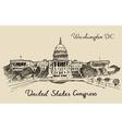 United States Capital Hill Capitol Washington DC vector image