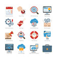 Web Development And SEO Flat Icons Set vector image