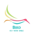 Colorful flying bird vector image
