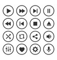 video player icon set vector image