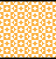 abstract circle square pattern orange vector image vector image