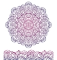 Abstract ethnic mandala seamless borderOutline vector image