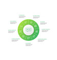 advertising infographic 10 steps circle design vector image vector image