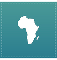 Africa Map - icon isolated vector image vector image