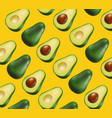 avocado pattern realistic yellow bright vector image vector image