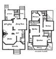 bensonhurst floor plans single family home vector image vector image