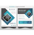 blue square business brochure leaflet flyer vector image