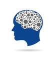Brain networking vector image