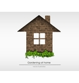 brick house with grass vector image
