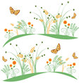 butterflies-and-flowers-6 vector image vector image